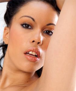 Karmen Diaz, sexy busty & hairy arabic girl stripping in studio...