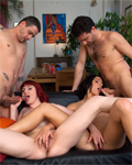 2 sexy hotties having sexual fun with 2 boys (part1)