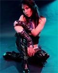 Milka Manson in a dark shoot gotiko/rock...