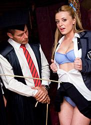 Inspected schoolgirl