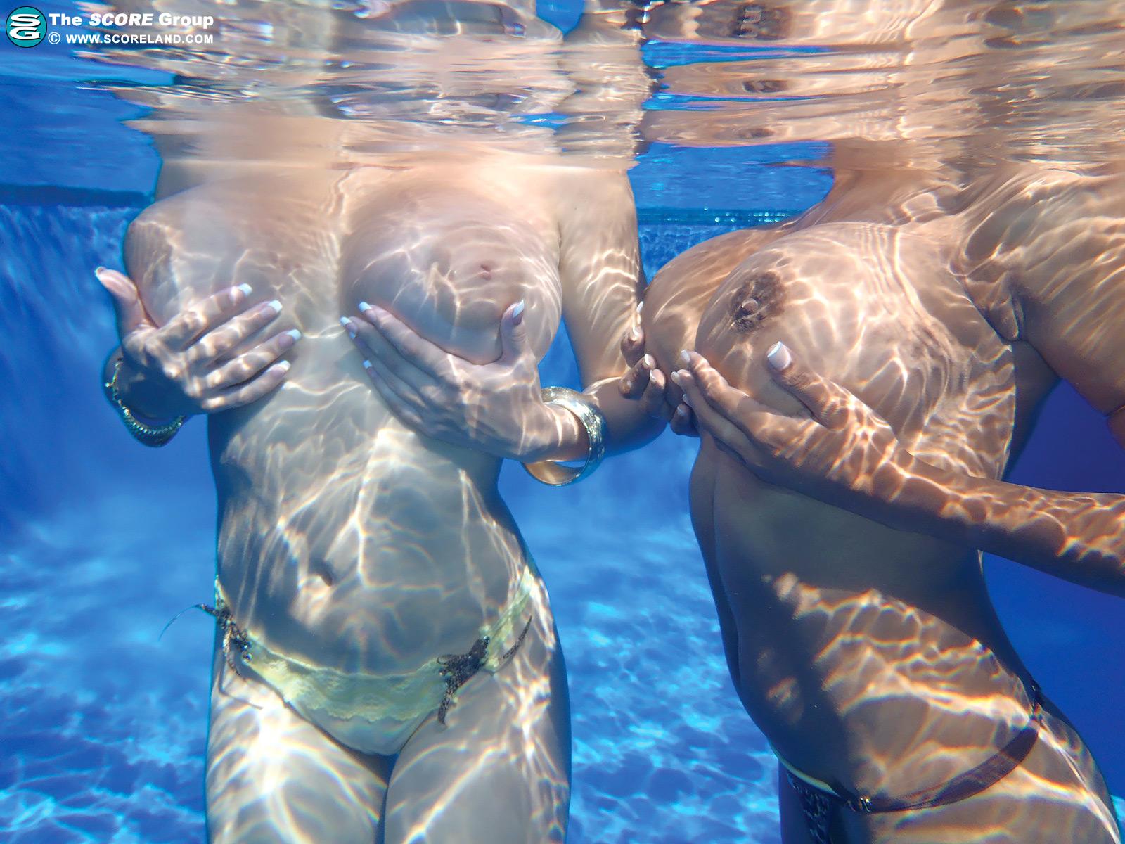 Boobs underwater big