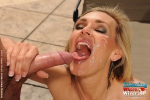 Horny cougar is fucking with the nude gardener