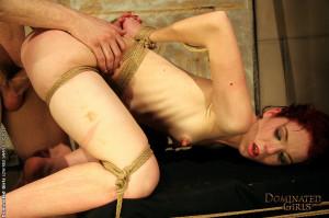 Skinny redhead Niki in a maledom BDSM hardcore