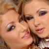 Blond babes enjoy dildo insertions