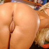 Hot blonde Dorina streching her pussy with a dildo
