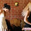Lustful Sophie preparing for shooting with Mili
