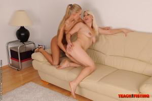 Sexy Cherry Ann is fisting an older mature women