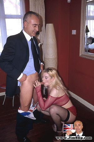 Cockloving British blonde fucked by a big stiffy senior dick