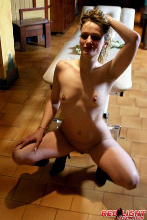 A sex tourist gets a horny massage at red light district