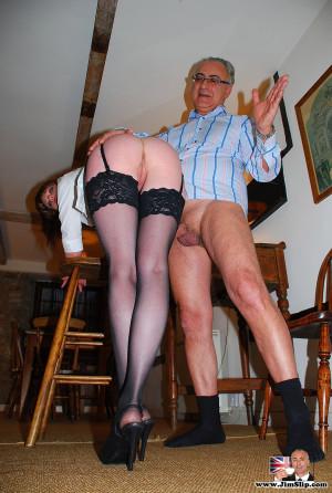 A horny dude spanking a dressed up street slut hardcore