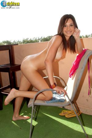 18eighteen – Booty on the Balcony – Simone Lopez (40 Photos)