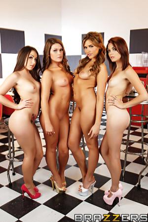 Yer Under Arrest, Missy starring Abby Cross, Mia Malkova, Kiera Winters, Lola Foxx from Hot And Mean – BRAZZERS
