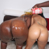 Stain Lace and Decollecter - Sexy babes with bubble asses sharing a big lucky cock