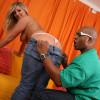 Carmen - Blonde with big natural boobs Carmen worships huge black cock