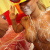 Crista Moore - Nasty blonde slut fucks monster black cock