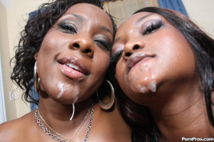 Nina & Ms. Platinum – Two giant-assed sluts go crazy on that cock!