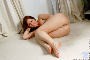 Solstice shows off indoor showing tasty boobs and nice pink pussy