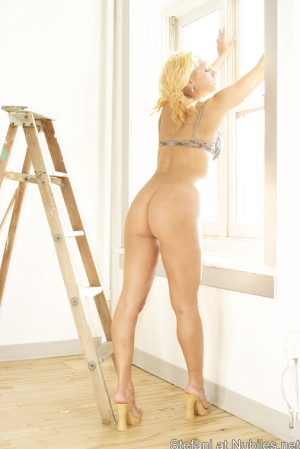 This girl looks so hot blonde hair tight body