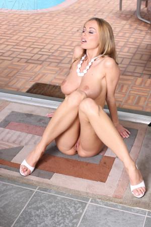 Anita Dark in Sheer top and bikini bottom