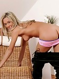 Enjoy a sultry blonde with a rocking body and tight ass