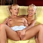 Enchanting blonde teens nude and bang metallic vibrators