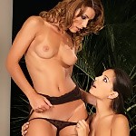 Exquisite lingerie beauties kiss and dildo tight pussies