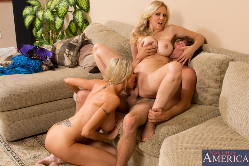 hot blonde three some