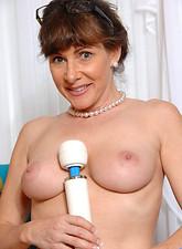 Alexandra Silk  Hot secretary masturbates with a powerful magic wand
