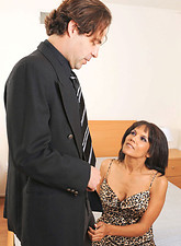 Anjanette Astoria  Sex addict Anjanette Astoria sucks on a cock before getting screwed and jizzed on