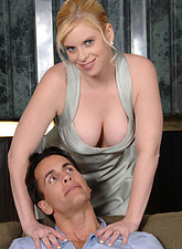 Cameron Keys  Charming Anilos Cameron Keys reveals her big tits and gets fucked hard by a hot stud on the couch