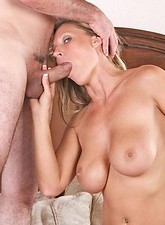 Devon Lee  Dirty blonde cougar Devon Lee receives a thorough fucking before taking a massive cum explosion on her face