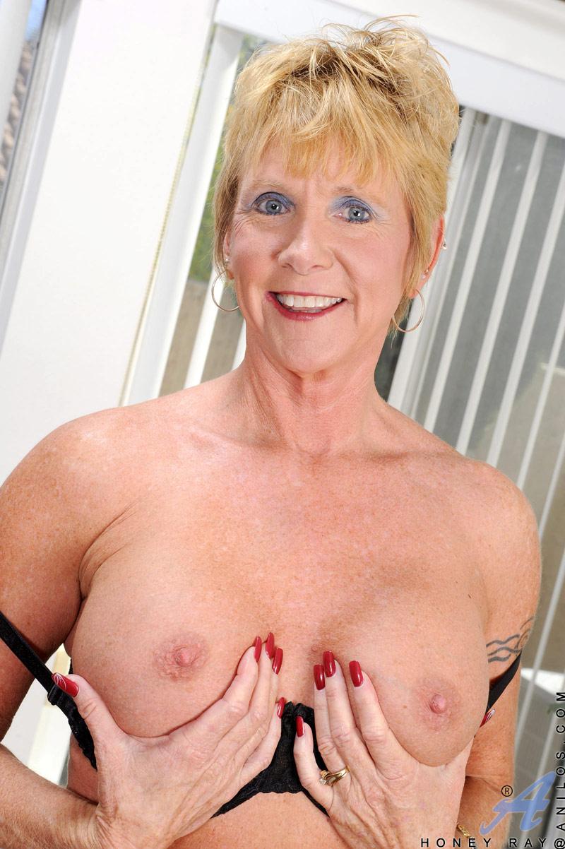 Mature blonde granny