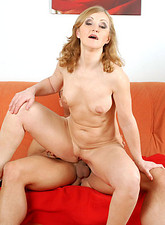 Anilos grandma spreads her savory snatch for a young rock hard cock