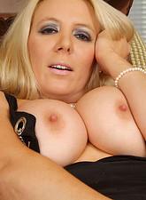 Kara Nox  Sophisticated blonde Anilos model screws her tight matured pussy vigorously