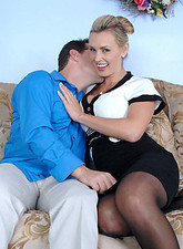 Tanya Tate  Horny Anilos Tanya Tate lets her big tits get licked by stud before she gets pounded on the sofa