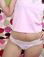 Ashli Orion - Flirty brunette Ashli gets nailed on sofa with cumshot