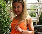 Aubrey - Slutty Teen Aubrey has sex cowgirl and missionary