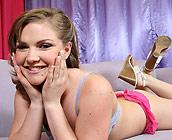 Cassidy Essence - Juicy young teen Cassidy fucks on sofa