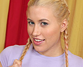 Megan Moore - Kinky little blonde girl wants to taste man cock