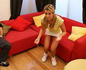 Mindy Lee - Juicy young teen Mindy Lee fucks on sofa