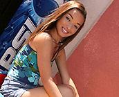 Sandy Sweet - Sexy Latina Teen Sandy Sweet rides big fat cock