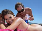 Allie Haze - Hot teen beach bunny Allie loves beaches, blowjobs, boning and cum!