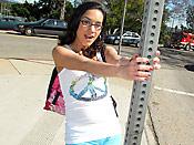 Tia Cyrus - Tight teen slut worshipping the cock