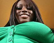 Jada Fire - Busty ebony Jada Fire shows off her big round ass