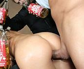 Jayden Jaymes - Busty brunette Jayden shows off her big round ass
