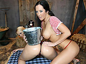 Alexis Texas - Wild west girls with bubble butts fucked in the barn