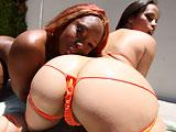 Sensious & Gemini - Hot big booty ebony slut gets fucked hard in her tight pussy!