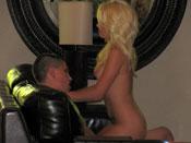 AV 006 - Blonde girl tastes nasty cum in her mouth
