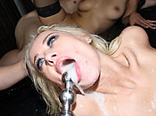 Rebecca Blue - Blonde whore getting roped, fucked hard, and drowned in jizz