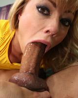 Adrianna Nicole - Big mouth blonde slut swallows cock